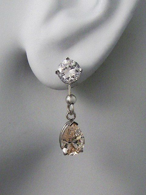 Earring Jackets For Studs 14k White Gold Dangle By Earcuffs 179 00