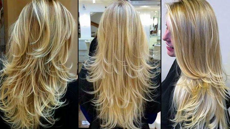 tagli scalati su capelli lunghi