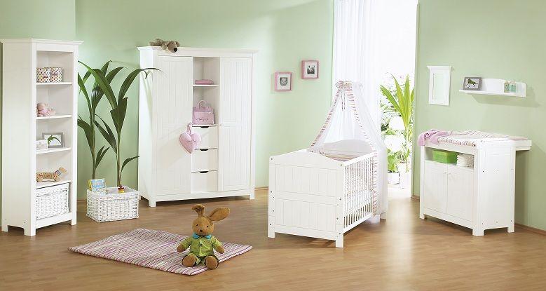 Kinderzimmer Nina Fichte massiv Weiß lasiert Landhausstil