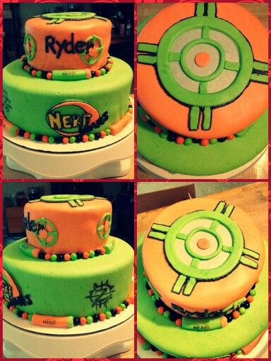 Nerf zombie strike cake Cool cakes Pinterest Cake Nerf party