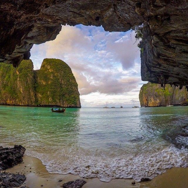 """Photo of the Day! @markdgaal says, ""Waking up on 'The Beach' at Maya Bay."""""