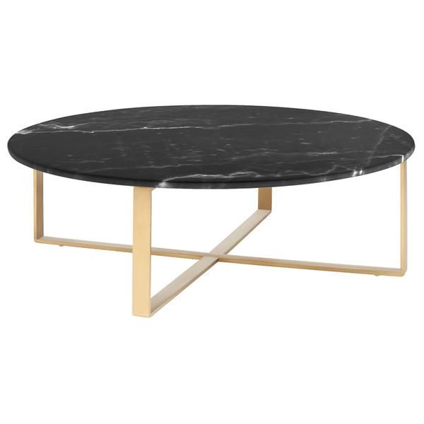 Round Black Marble Coffee Table