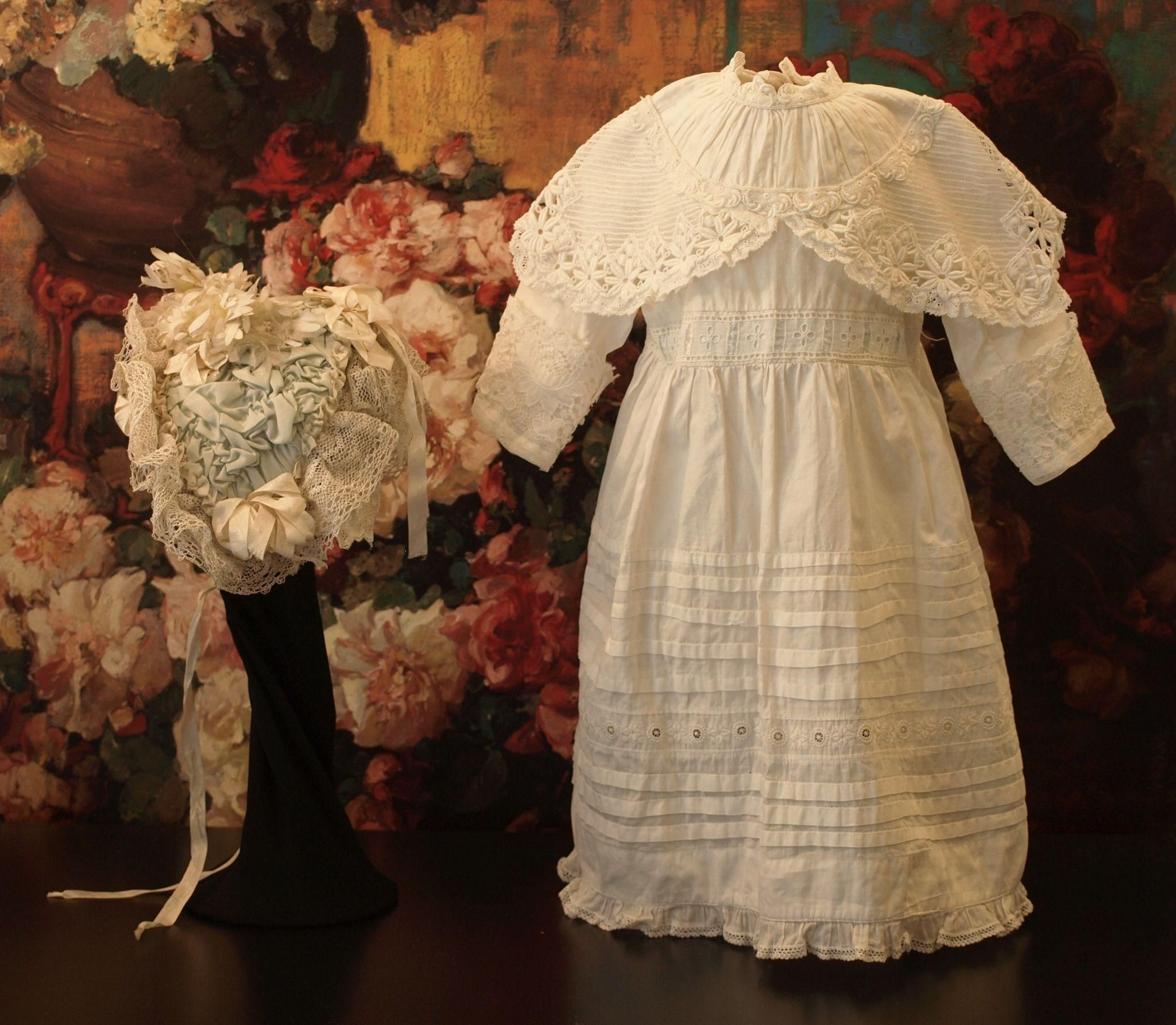 Beautiful Antique Doll Dress with Broderie Anglaise Design