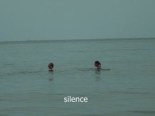 & now i just sit in silence