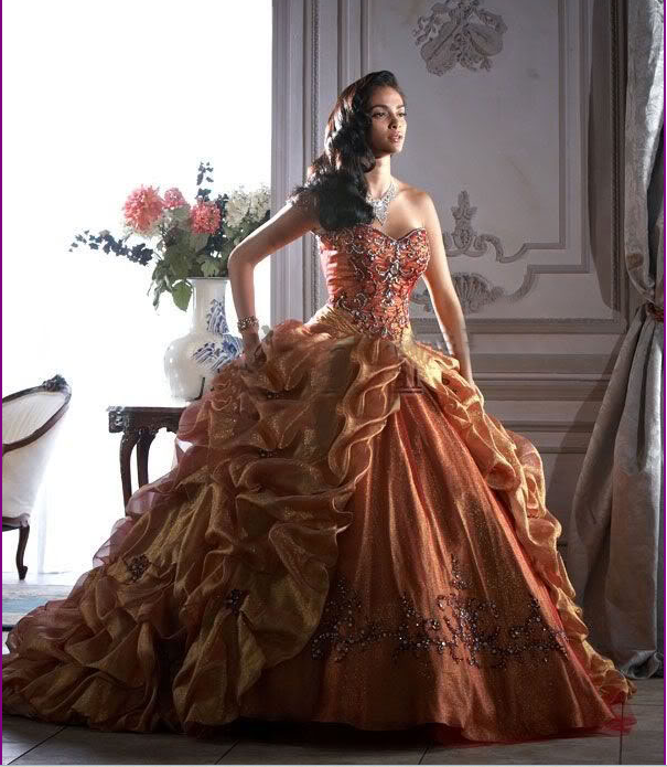 Vintage Gothic Quinceanera Dress Wedding Prom Party Bridal Evening Ball Gown 6-8