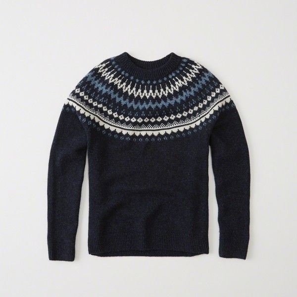 Abercrombie & Fitch Nordic Pattern Crew Sweater ($53) ❤ liked on ...