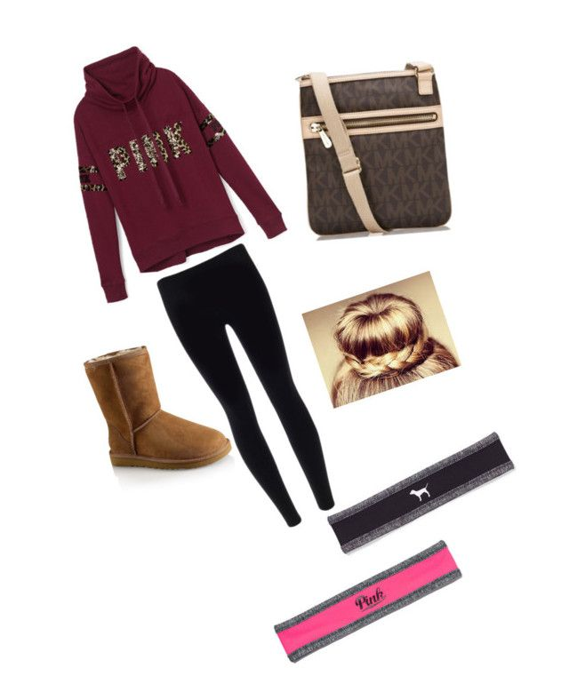 """""""Untitled #57"""" by xoxobritt ❤ liked on Polyvore featuring Victoria's Secret PINK, UGG Australia and Michael Kors"""