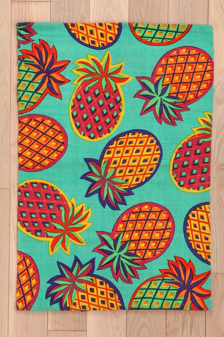 Magical Thinking Pineapple Rug Pineapple Art Pineapple Decor Pineapple Lovers