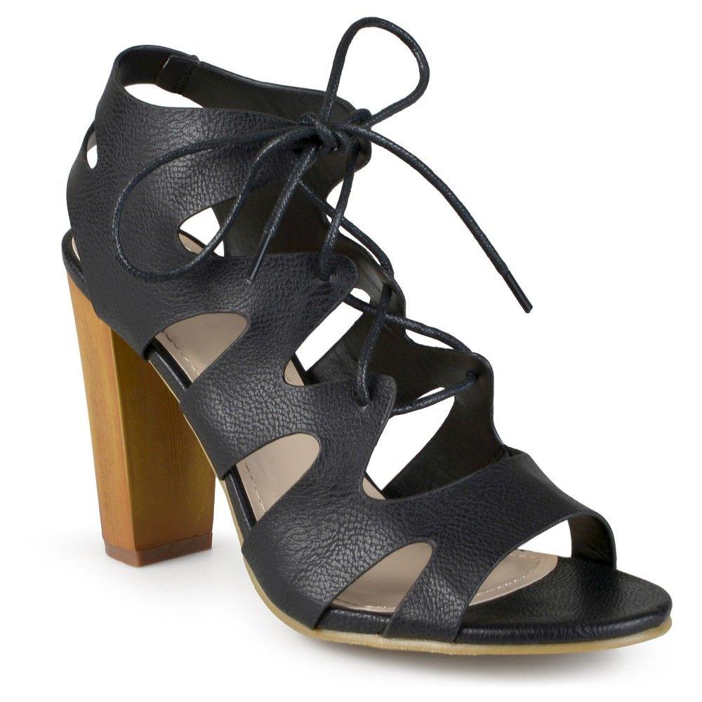 Women's Journee Collection Azure Ghillie Sandals - Black 8.5