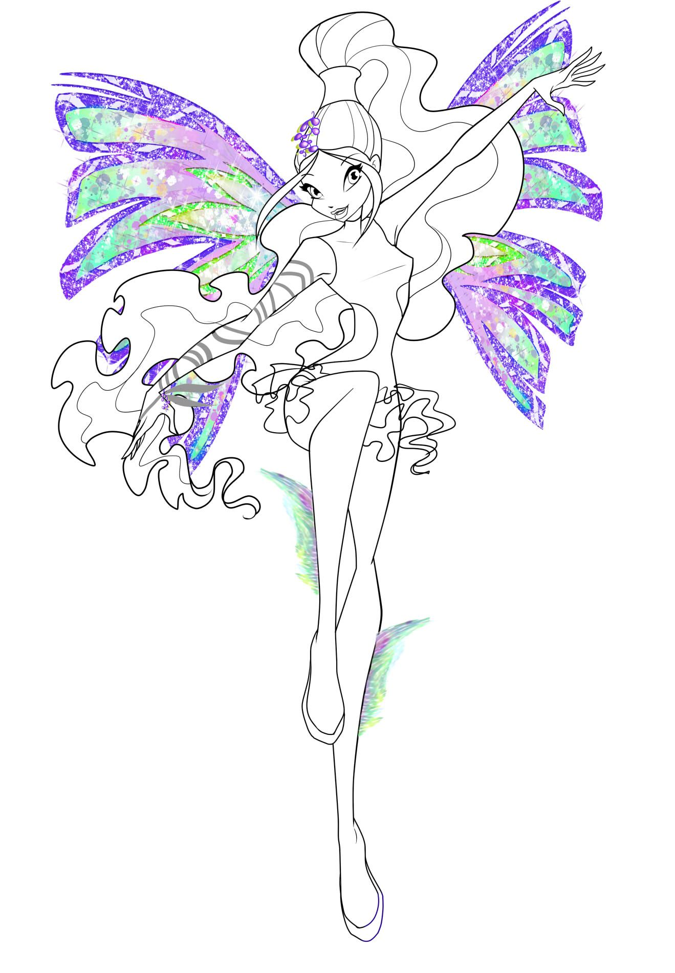 Winx Club Aisha/Layla | Coloring pages, Winx club, Drawings