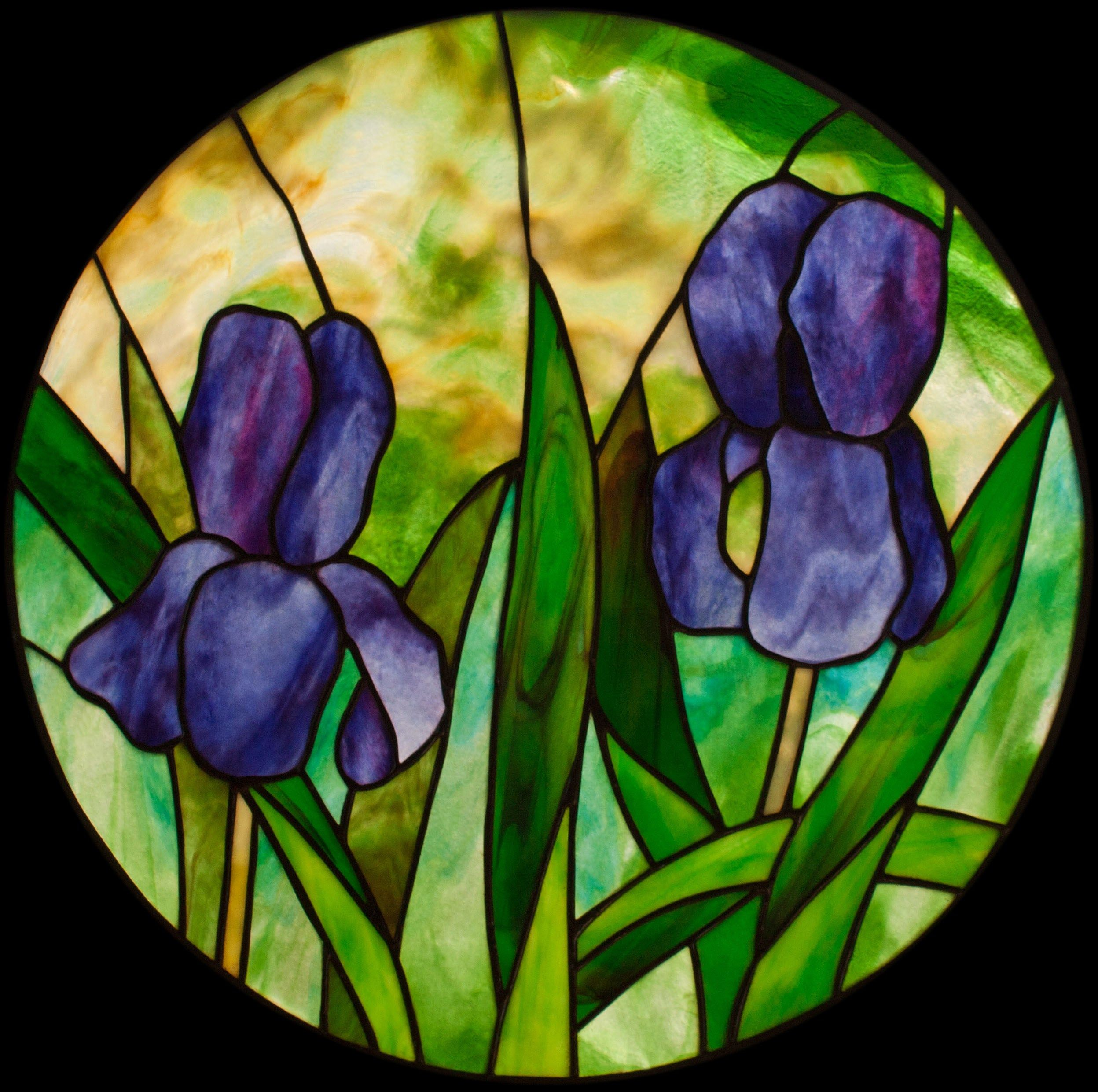 Stained Glass Pattern Of Iris For Beginners Yahoo Image Search