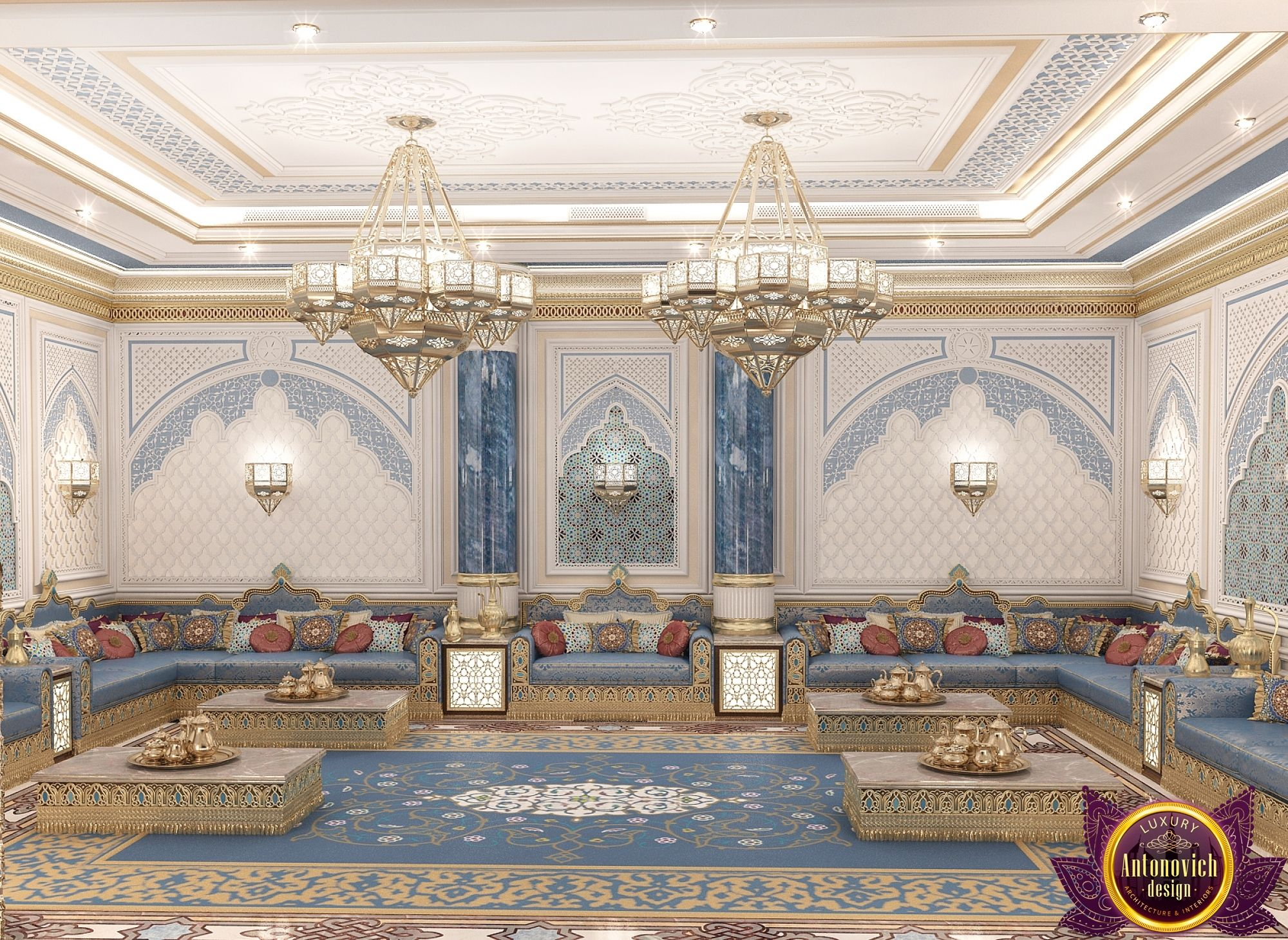 Majlis Interior Design In Dubai Luxury Arabic Photo 2