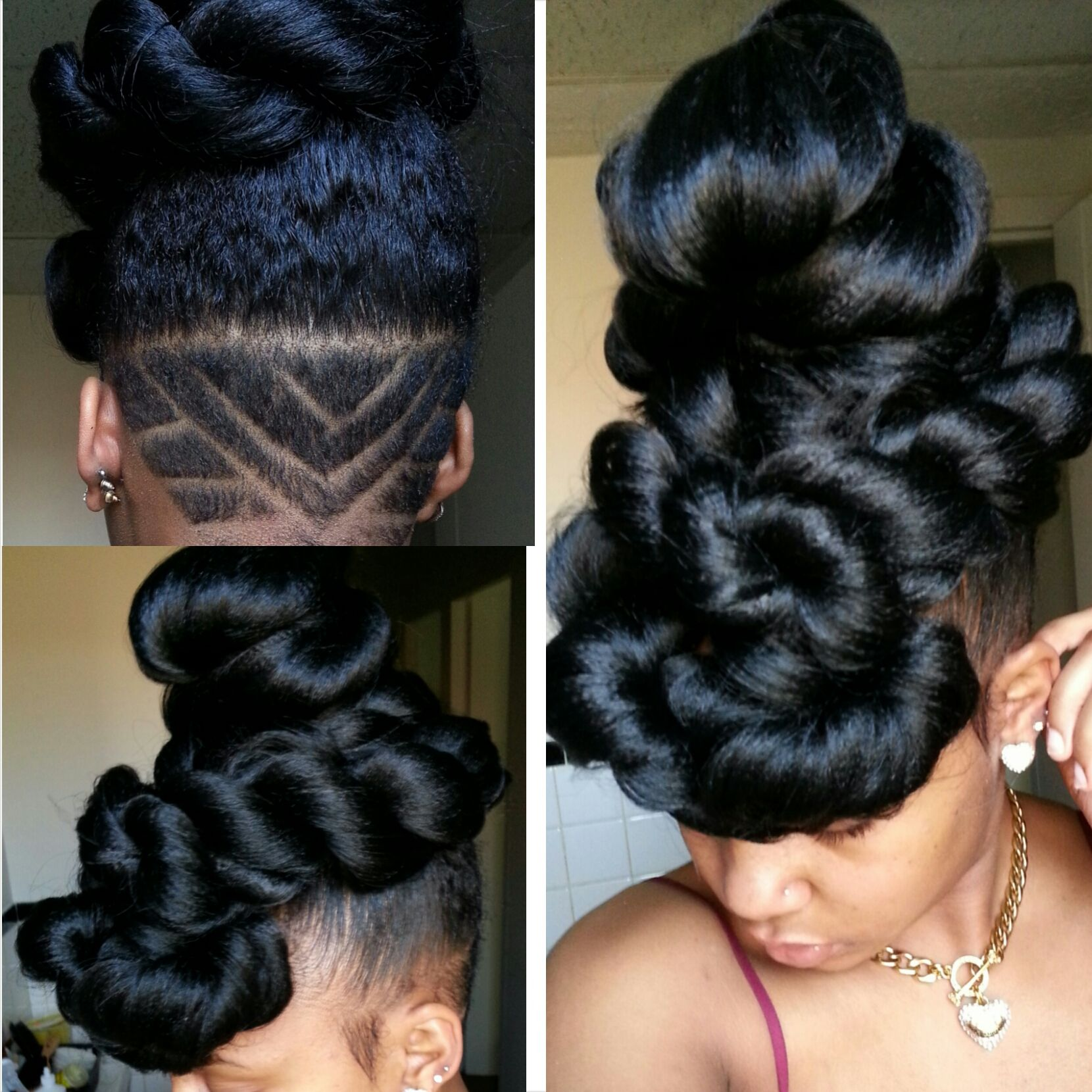 Elegant easy updo by aprecia blackhairjsyux