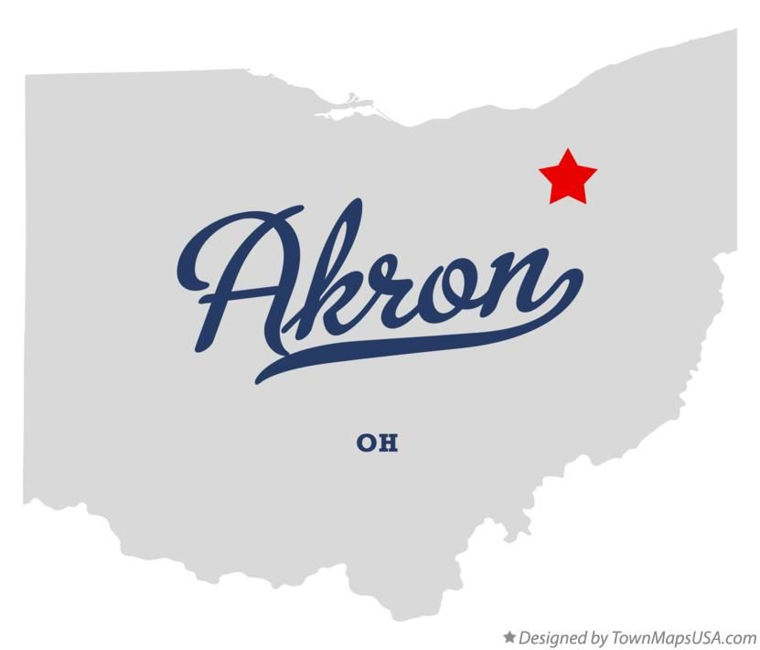 Map of Akron Ohio OH | Akron, Ohio | Ohio, City, Akron ohio
