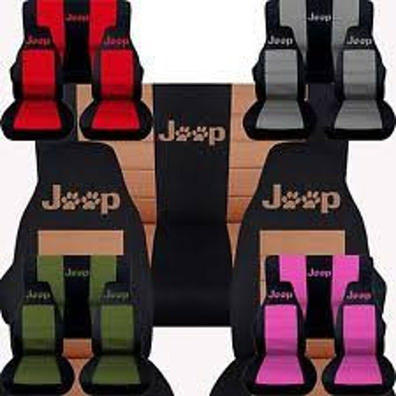 Jeep Paw Prints Car Seat Covers Choose Your Middle Colour