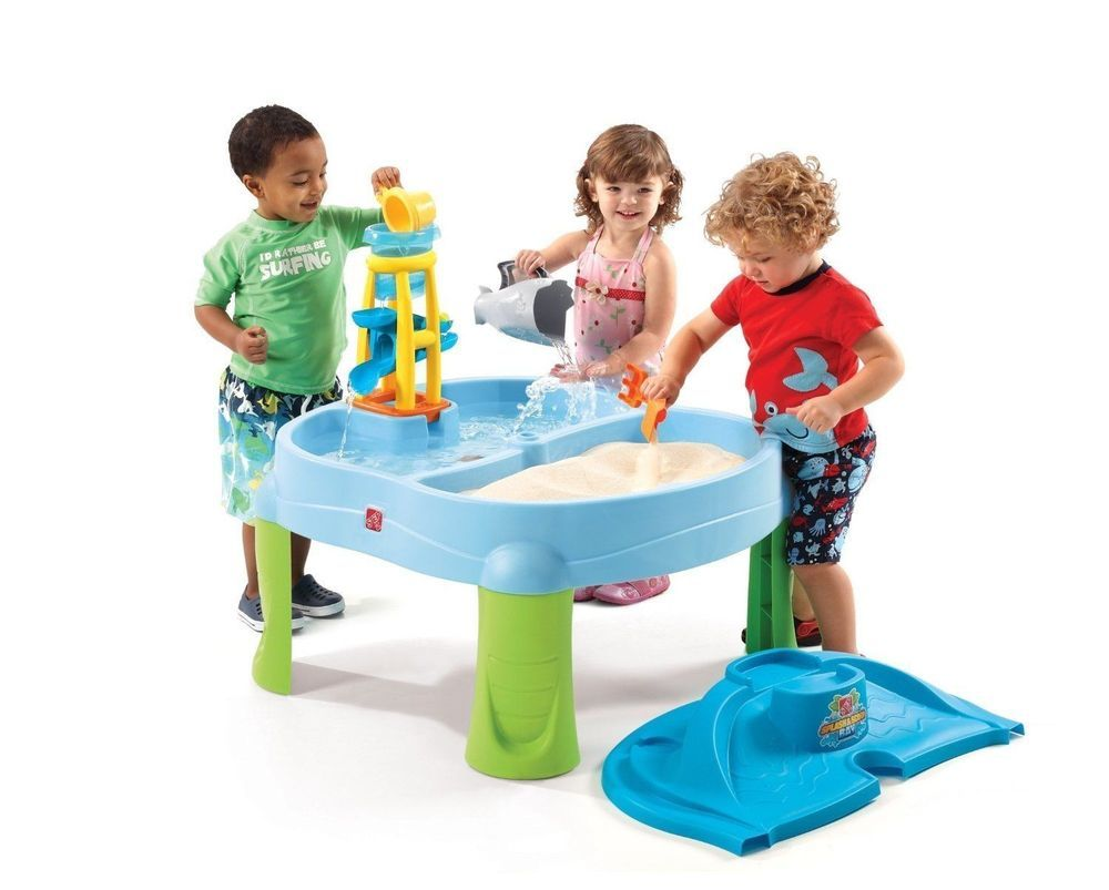Water Sand Outdoor Play Bay With Cover Waterproof Backyard Kids Playset Fun  Toy