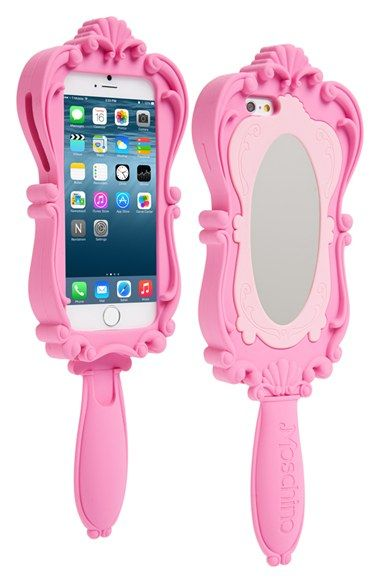 Free shipping and returns on Moschino Mirror iPhone 6 Case at Nordstrom.com. A standout item from Jeremy Scott's Moschino Spring '15 Runway Capsule Collection, this ultra-girly iPhone case takes the shape of an elaborately scrolled hand mirror in classic dreamgirl pink.