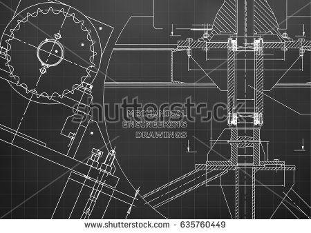 Blueprints mechanical construction technical design engineering blueprints mechanical construction technical design engineering illustrations banner black grid bubushonok art bubushonokart design vector malvernweather Choice Image