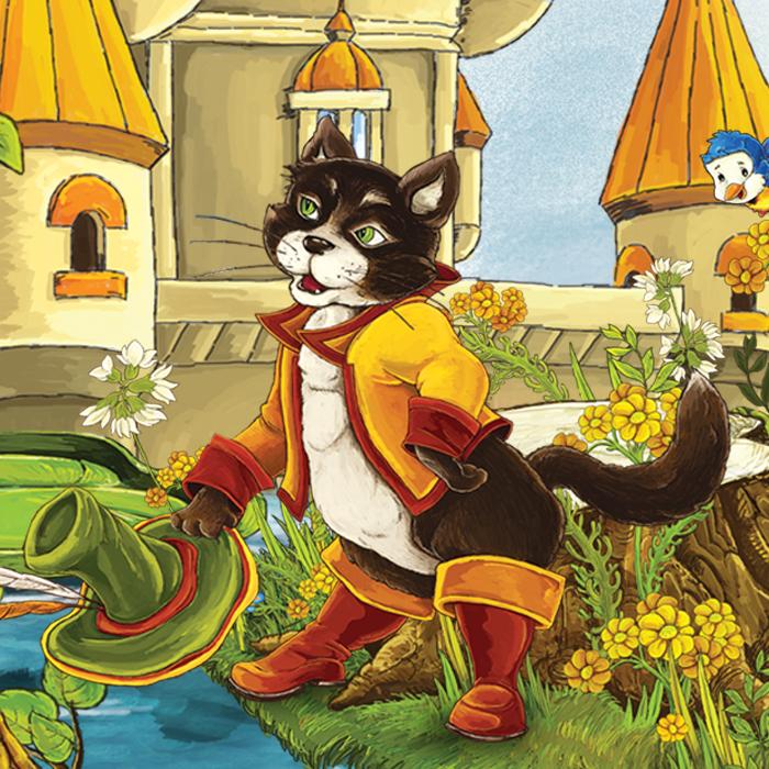 Сказка кот в сапогах в картинках для детей