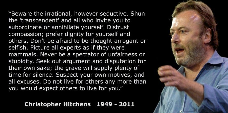"""christopher hitchens best quotes   30. """"Beware the ..."""