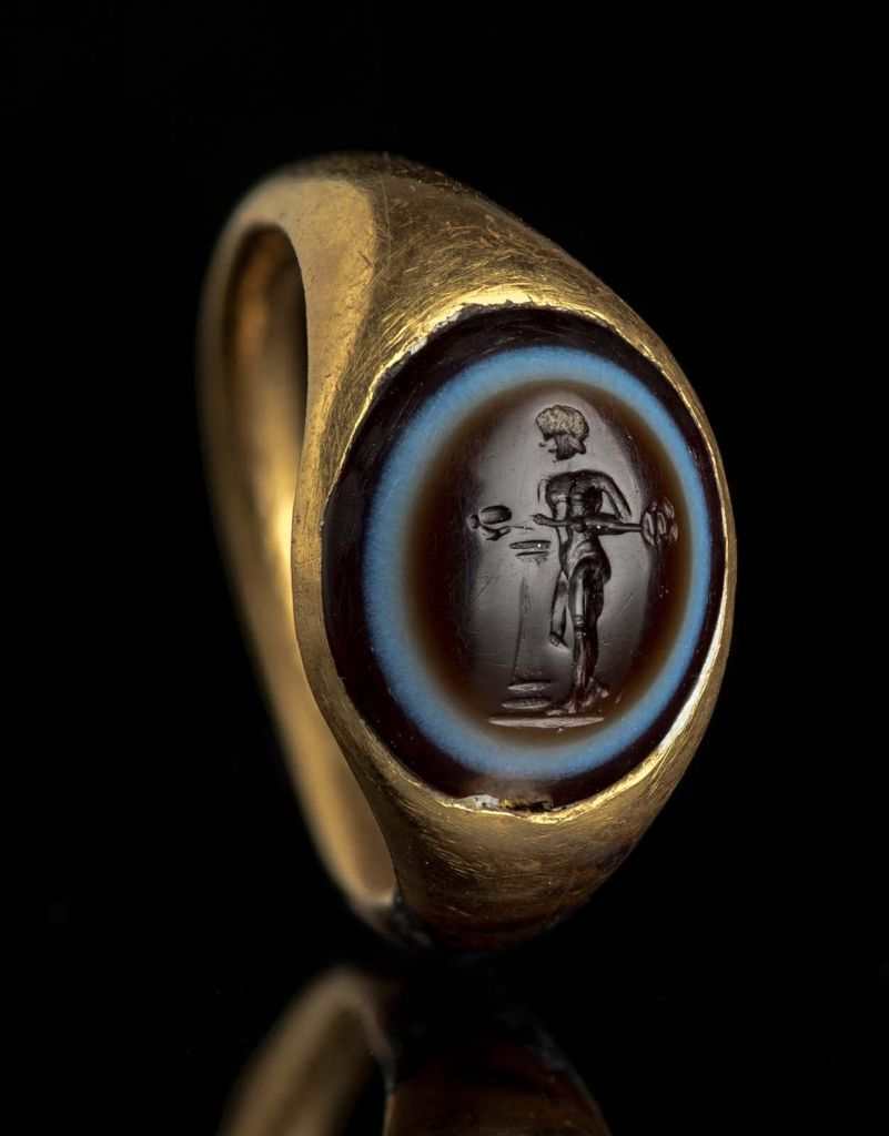 Ring with gem with Hermes | Museum of Fine Arts, Boston