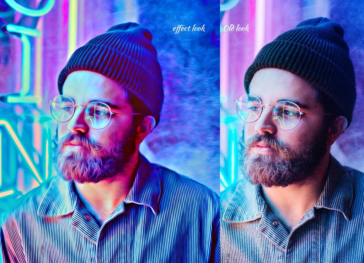4D Color Light Painting Effect , ad, Advancedcolorful