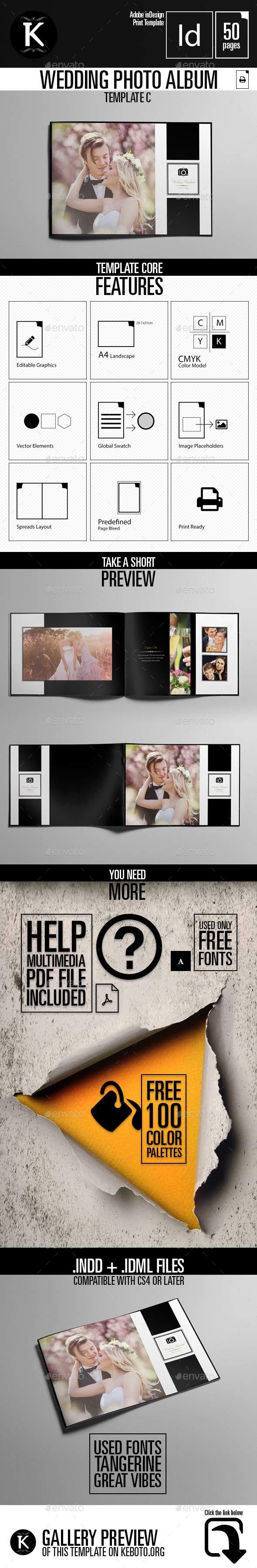 Wedding Photo Album Template C | Pinterest