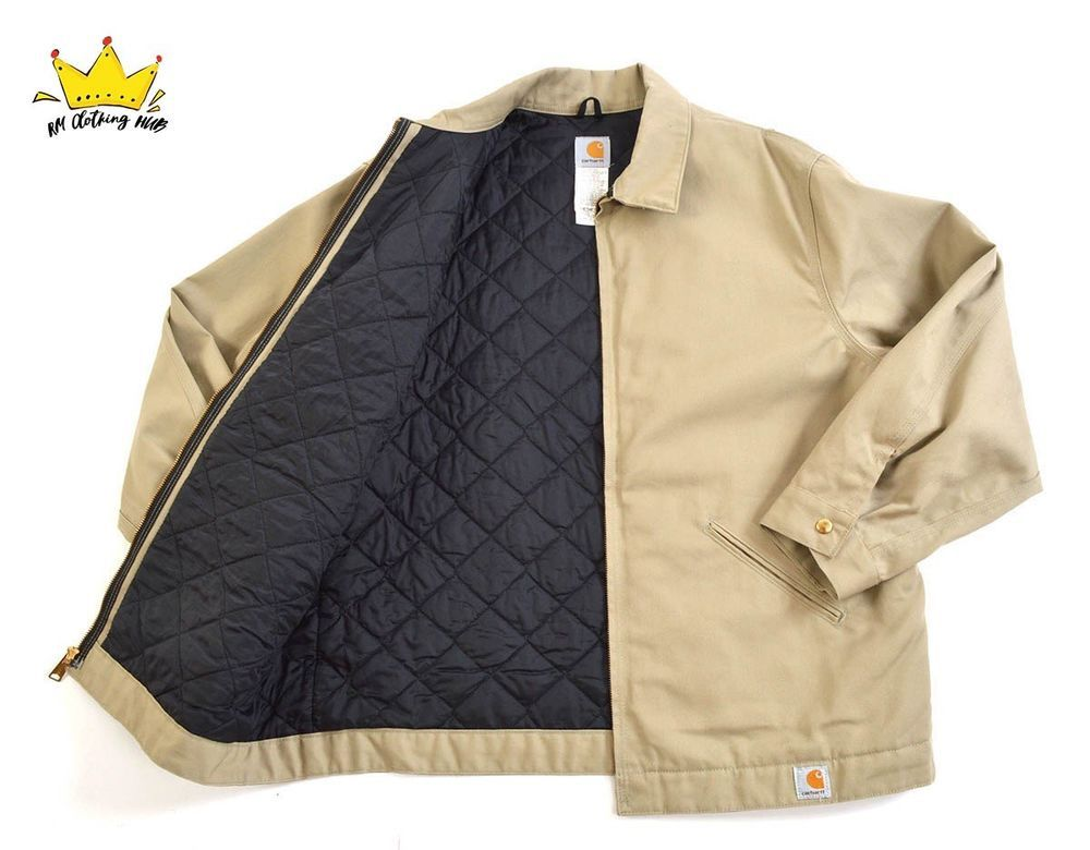 e79fdfcfe CARHARTT Street Style Work Wear Beige Quilted Lined Bomber Mens ...