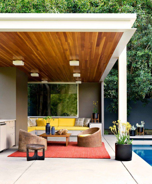 21 Stunning Midcentury Patio Designs For Outdoor Spaces Modern