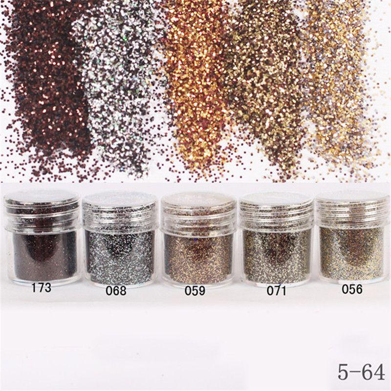 1 Box 10 ml Braun Kaffee Nagel Glitter Pulver SheetsNail Staub Tipps Nail art Dekoration Nagel Werkzeuge #18760