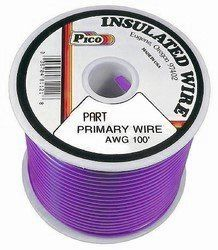 Pico 81149s 14 Awg Purple Primary Wire 100 Per Package By Pico 22 95 Single Conductor Copper Strand Electrical Wiring Electrical Wire Connectors Wire Cover