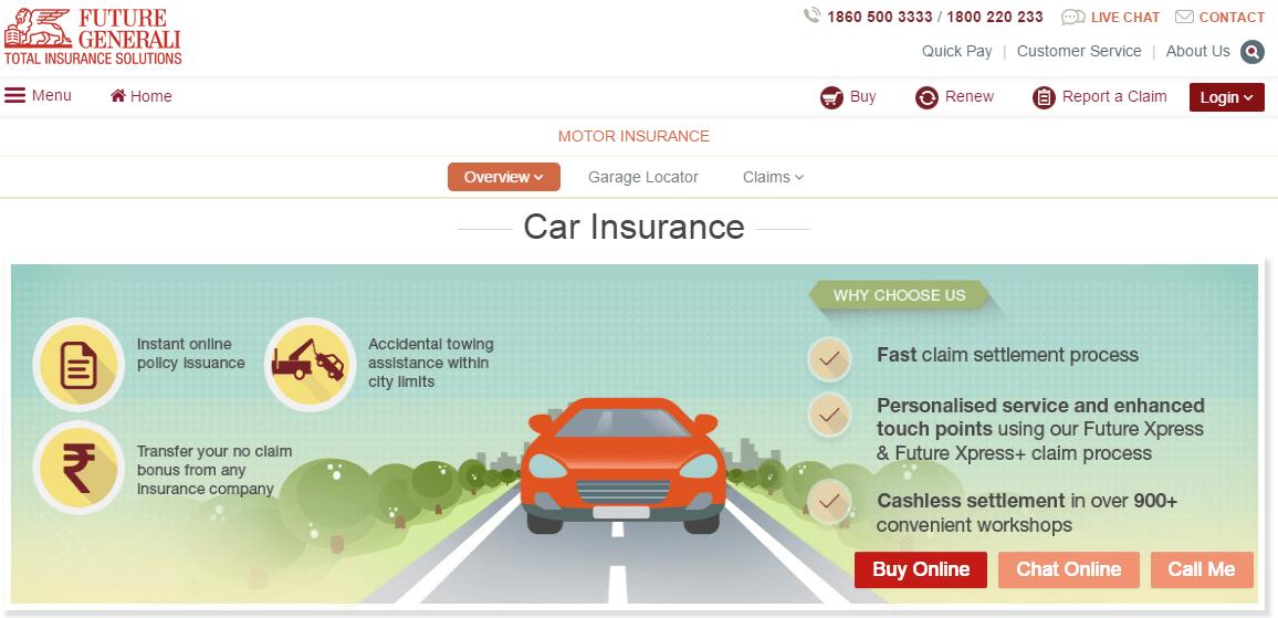 Motor Or Car Insurance Claim Procedure Future Generali Car Insurance Claim Car Insurance Tips Comprehensive Car Insurance