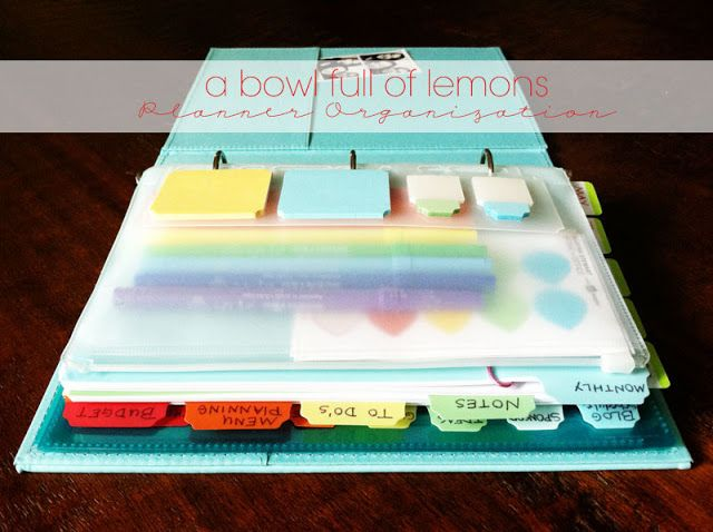 Planner organization at it's finest! Check out this unbelievable resource FULL of ideas and suggestions to make your planner work for you. Via A Bowl Full of Lemons