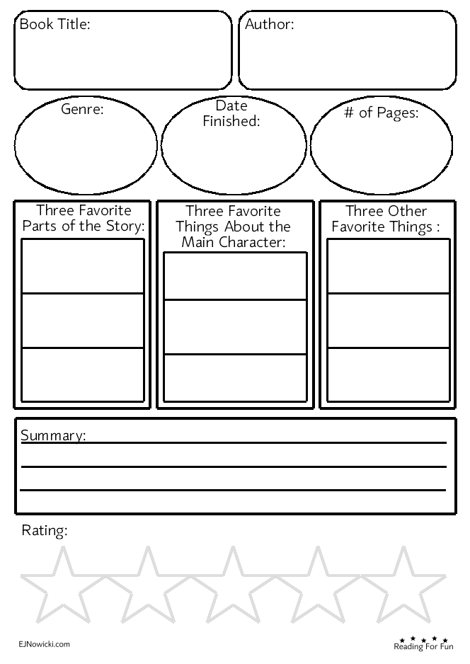 Free Printable Worksheet Use For Fun With Any Book A Great Way To Keep Kids Engaged In Reading G Kids Worksheets Printables Middle Grade Books Fun Worksheets