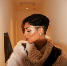 Shaved Hairstyles For Black Women Entrancing Pinyulon Huddleston On Short Hair  Pinterest  Short Haircuts