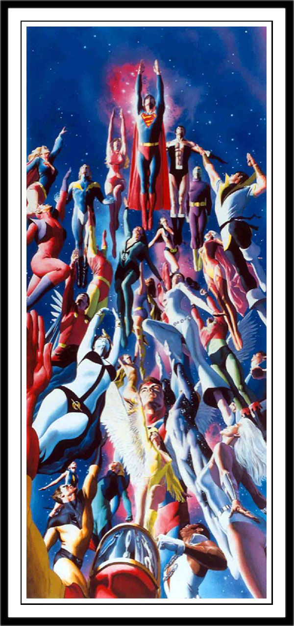 The Legion Of Superheroes Drawn By Alex Ross The Legion Of