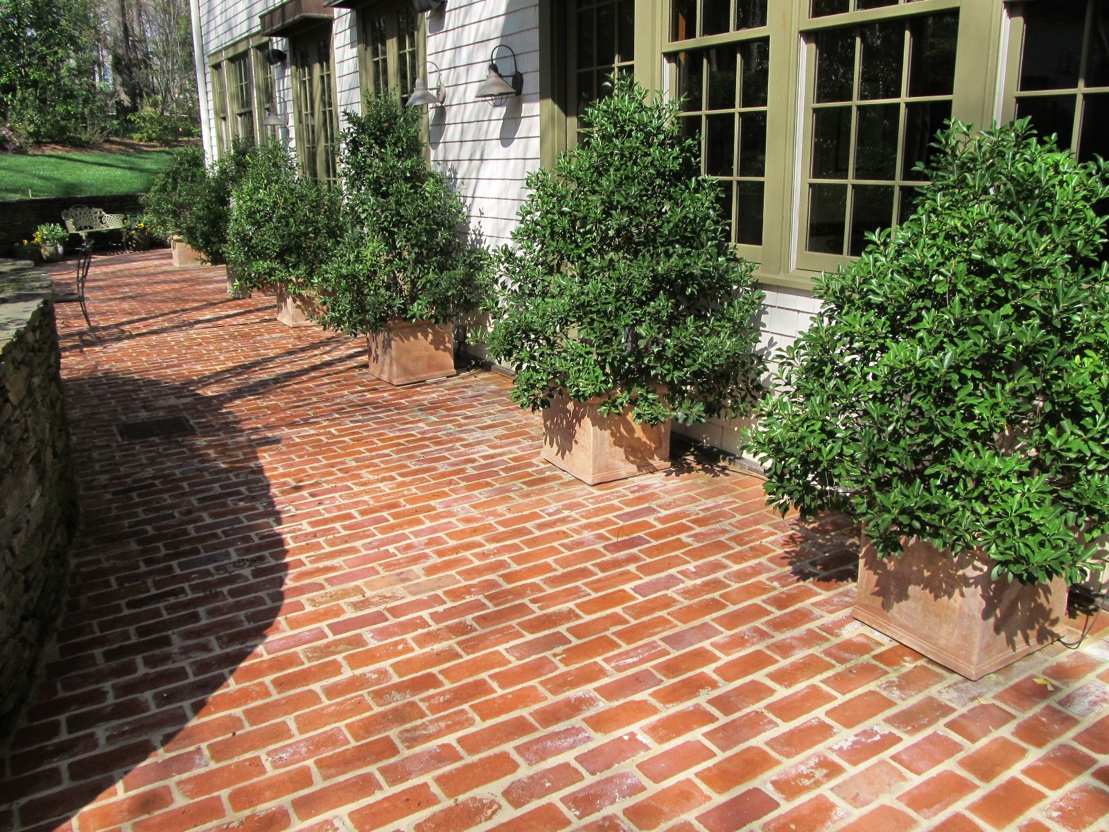 Brick Patterns For Patios A Nice Brick Patio With A Running Bond Pattern In Buckhead Photo
