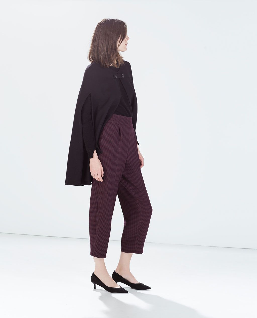 4d156729 Image 3 of HIGH WAISTED WIDE CROPPED TROUSERS from Zara | pants ...