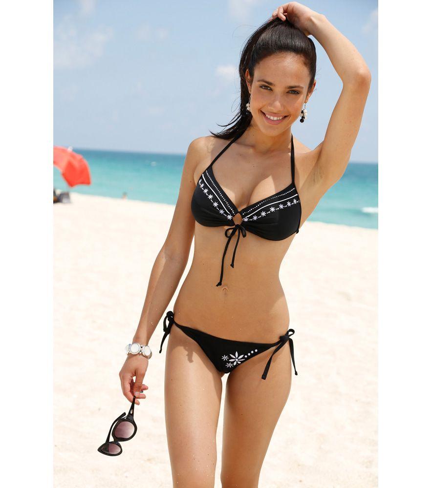 f8568f333ab7 bikinis bordados   Bikini 2 piezas mujer bandeau y braga con bordado ...