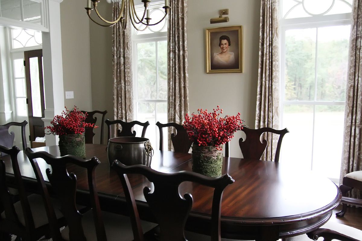 Dining Room Light Fixture And Furniture