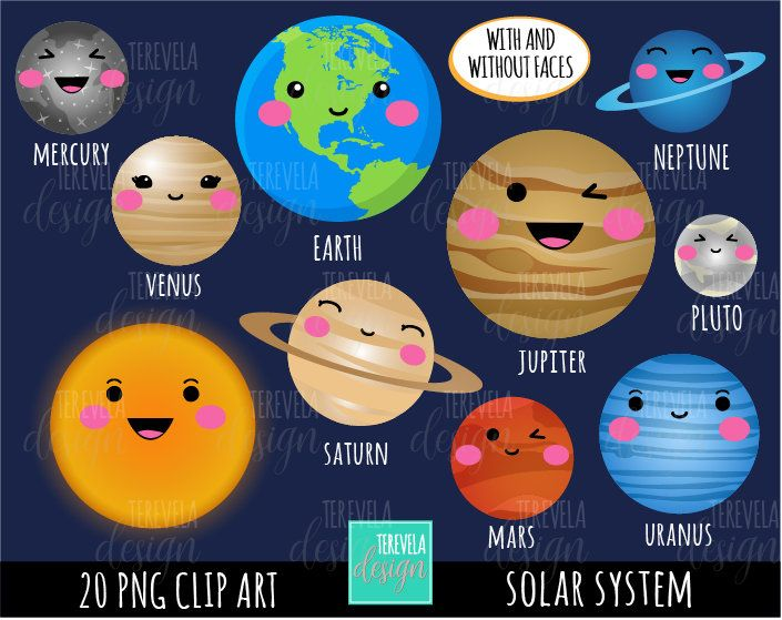 Solar System Clipart Commercial Use Planets Graphics Space Etsy Solar System Clipart Solar System Projects For Kids Planet Crafts