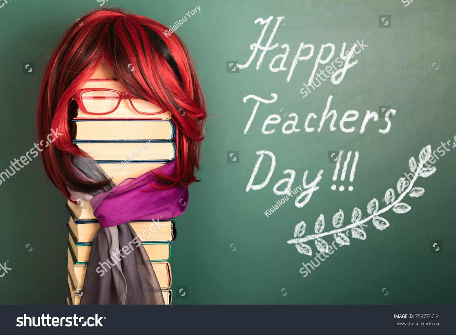 Happy Teachers Day Funny Education Concept With Beautiful Teacher Girl With Luxurious Red Hair Ad Affi Beautiful Teacher Education Humor Happy Teachers Day