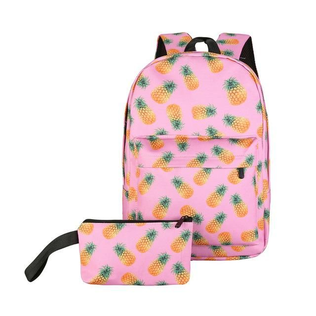 e21a6de30 2Pcs Candy Color Printing Backpack Women Nylon Travel Red Lip Design Ladies  School Bags for Teenager Girls Mochila Escolar