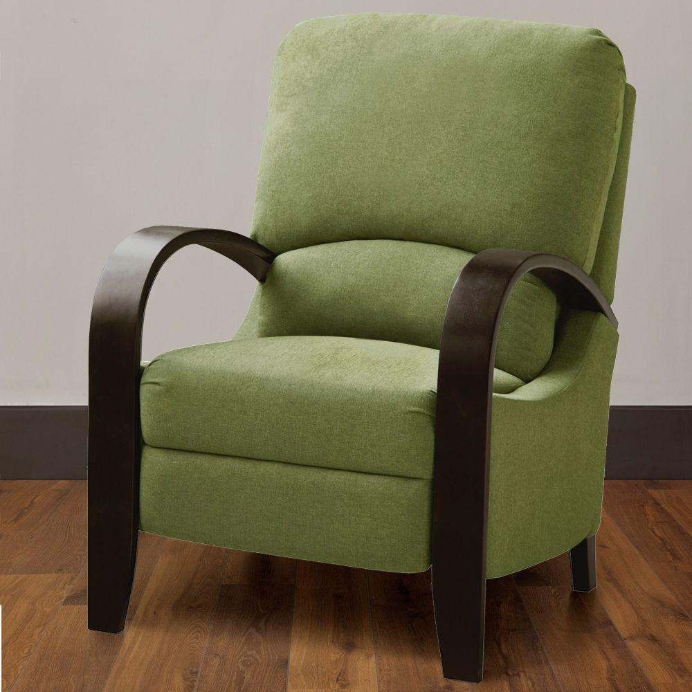 Copper Grove Riverside Green Bent Arm Recliner Furniture