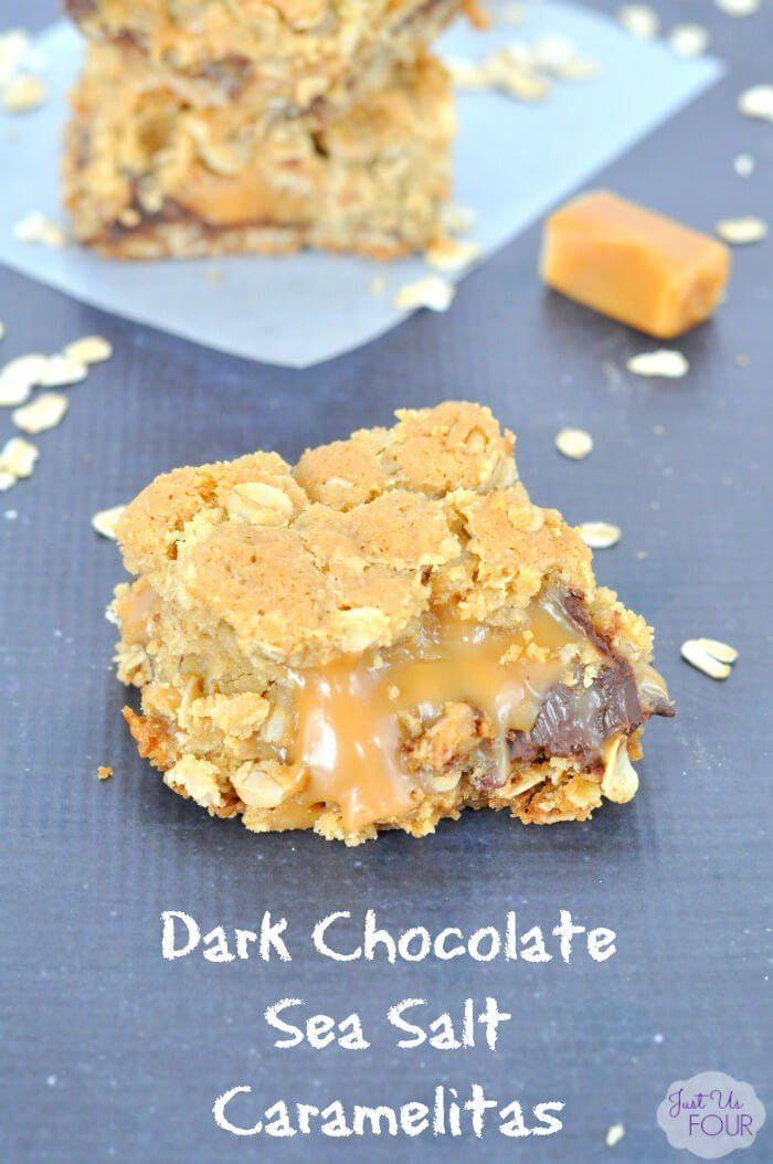 These Dark Chocolate Sea Salt Carmelitas are to die for with a little bit of sweet, a little bit of salty and a whole bunch of goodness! | Featured on The Best Blog Recipes