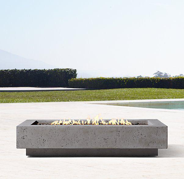 72 Ixtapa Natural Gas Rectangular Fire Table Fire Table Outdoor Fire Pit Garden Fire Pit