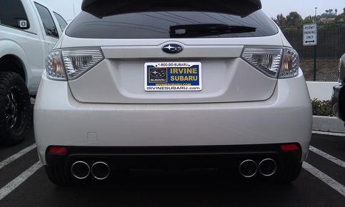 Invidia Q300 Cat Back Exhaust Hatchback Subaru STI 2008
