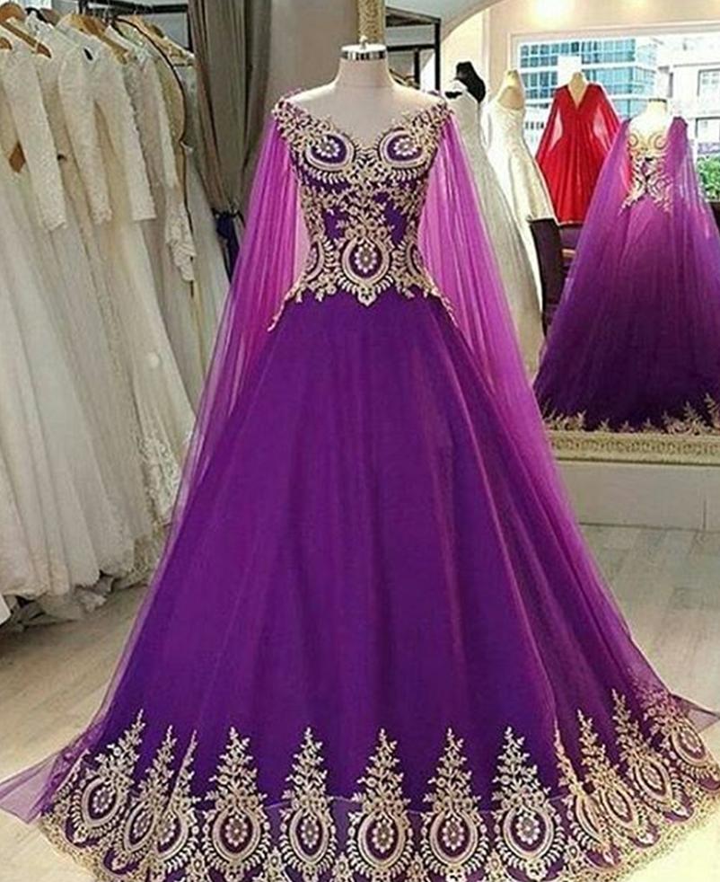 Elegant V Neck Purple Prom Dresses Ball | Ball Gowns | Pinterest