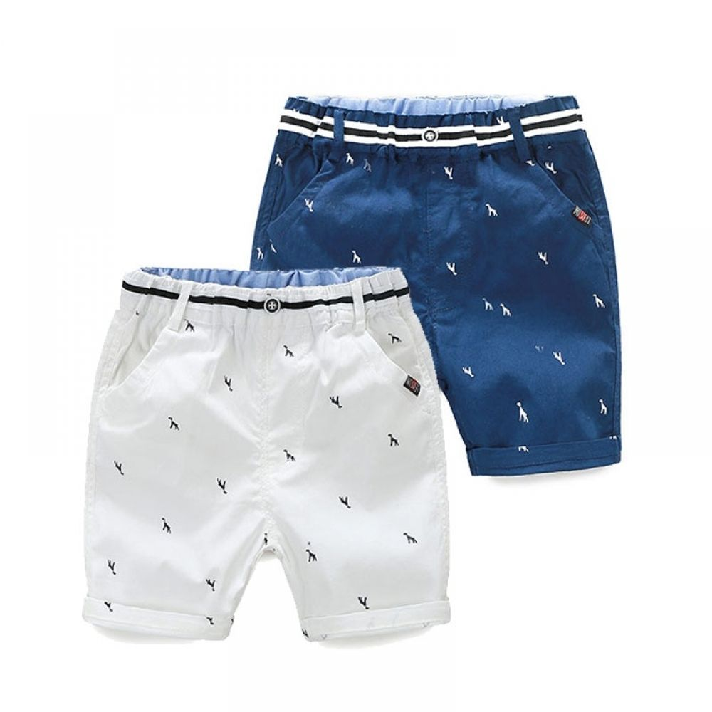 UK Kids Summer Casual Boys Shorts Baby Striped Half Pants Knee Length Trousers