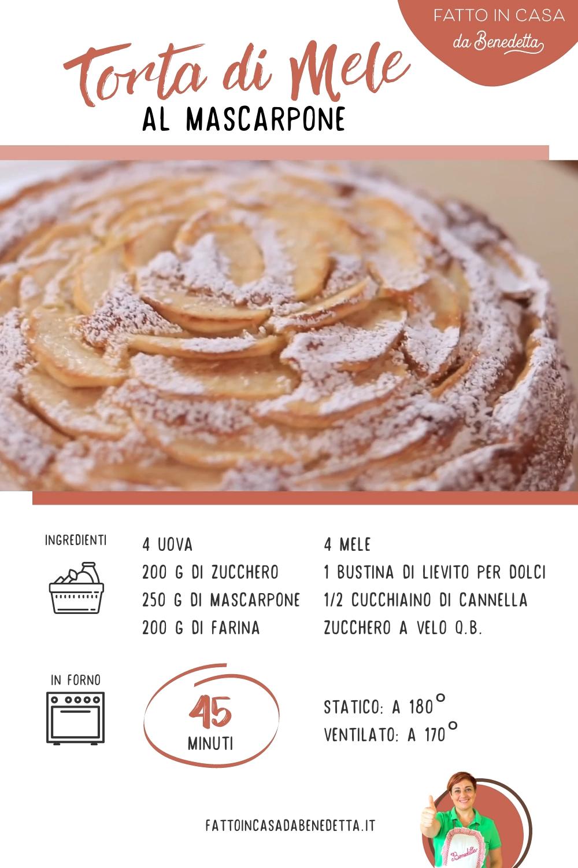 Photo of Torta di mele al mascarpone